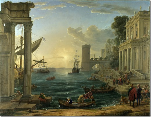 Claude_Lorrain_embarkation of the queen of sheba - 1648