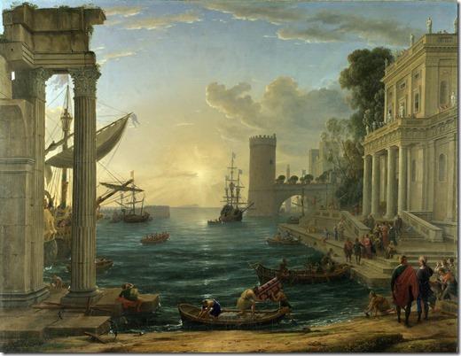 Claude_Lorrain_embarkation of the queen of sheba - 1648