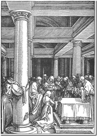 durer - presentation of christ