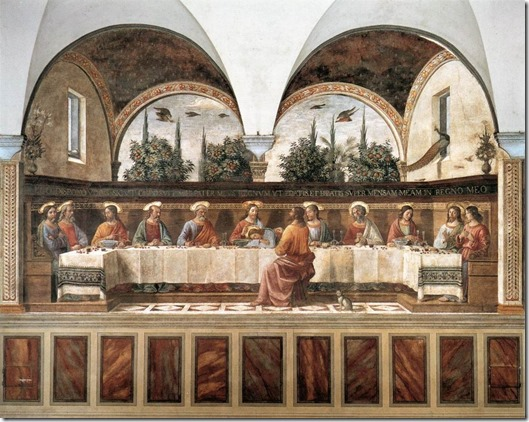 guirlandaio - last supper -1485