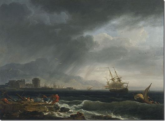 vernet- a stormy sea 1748