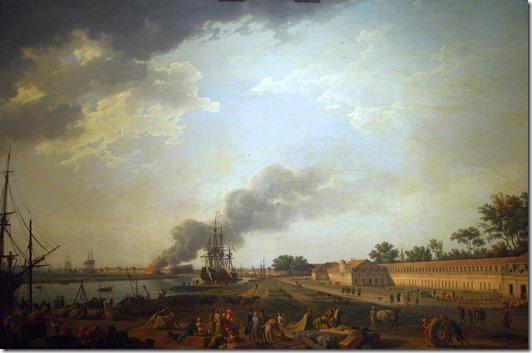 Joseph_Vernet,_Vue_du_port_de_Rochefort,_prise_du_magasin_des_Colonies