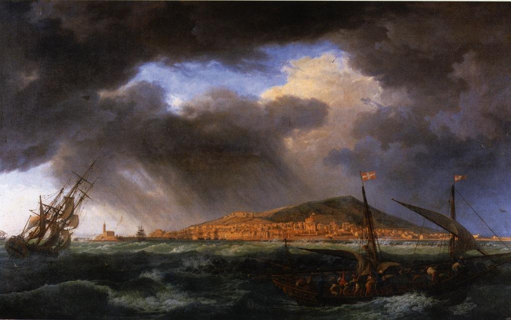 Les ports de france vissi d 39 arte - Vue du port de bordeaux joseph vernet ...